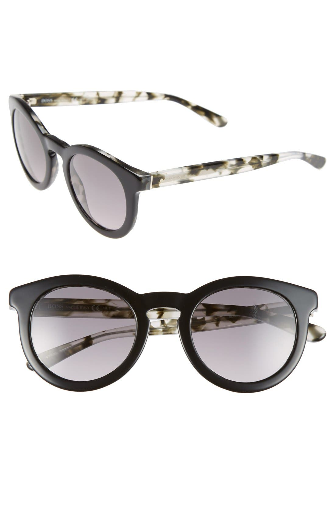 Alternate Image 1 Selected - BOSS 48mm Round Sunglasses