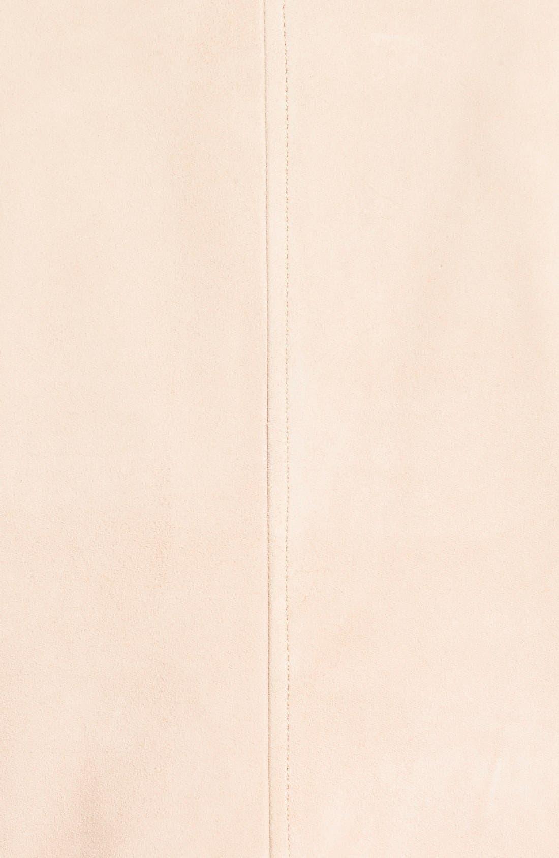 Alternate Image 5  - Bernardo Drape Front Suede & Leather Jacket