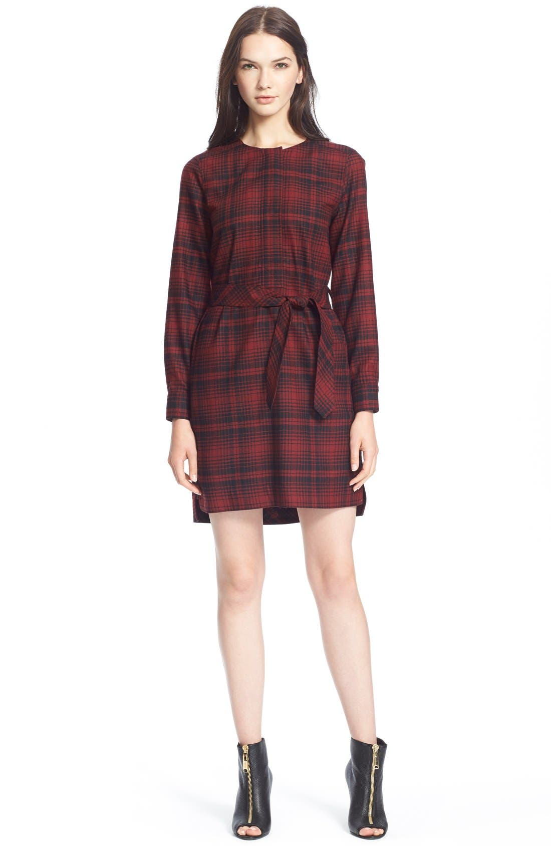 Main Image - Burberry Brit 'Wilhelmina' Check Wool Shirtdress