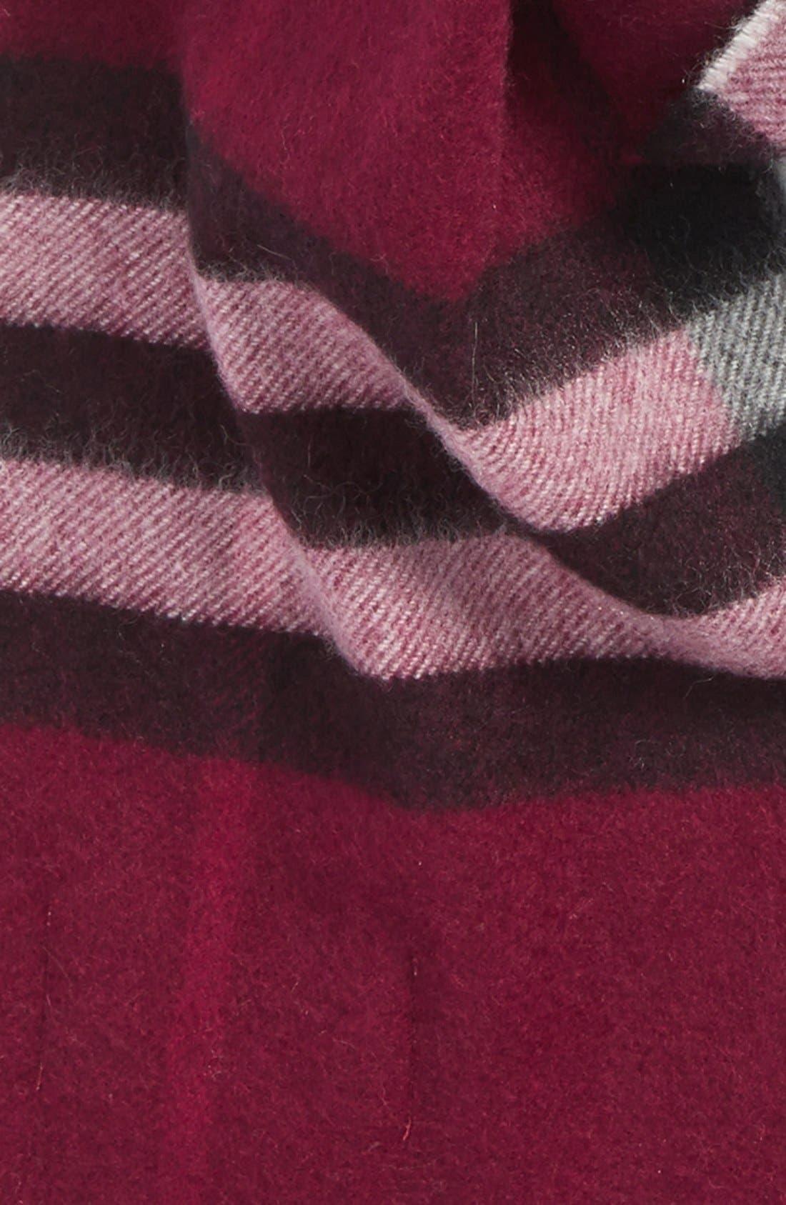 Alternate Image 3  - BurberryGiant Check Cashmere Scarf