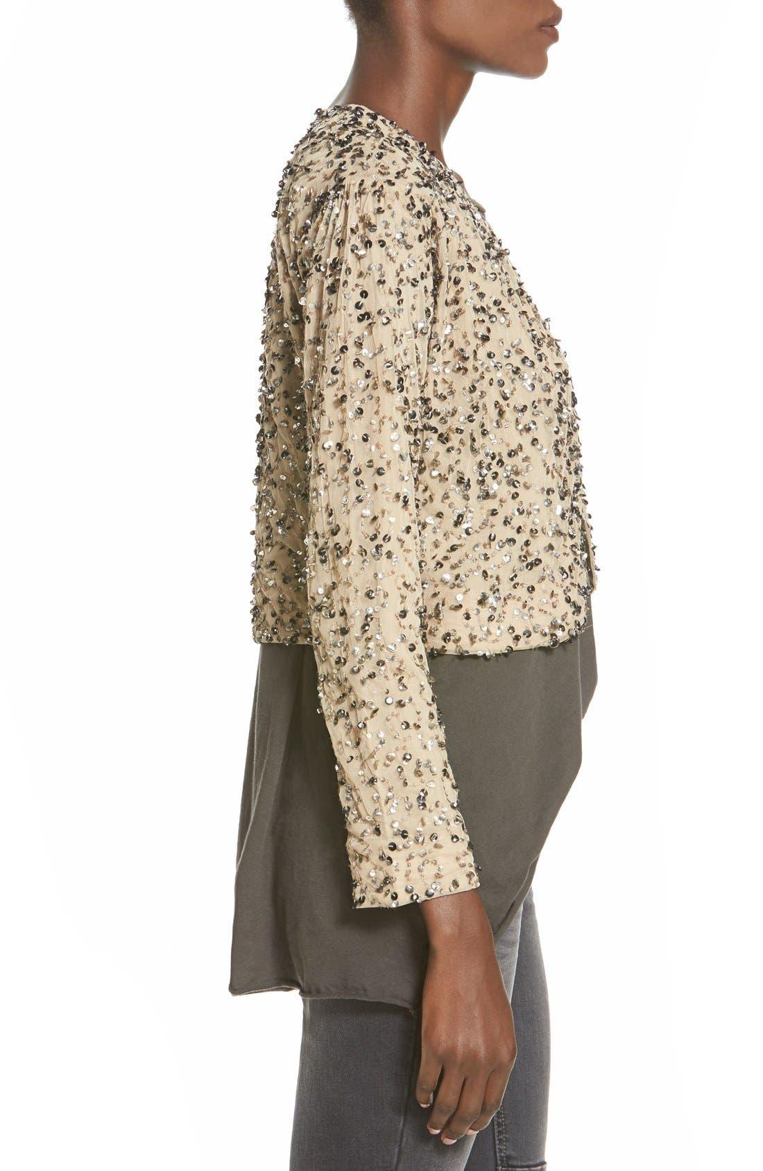 Alternate Image 3  - Billabong 'Eyes on Me' Sequin Cutaway Jacket