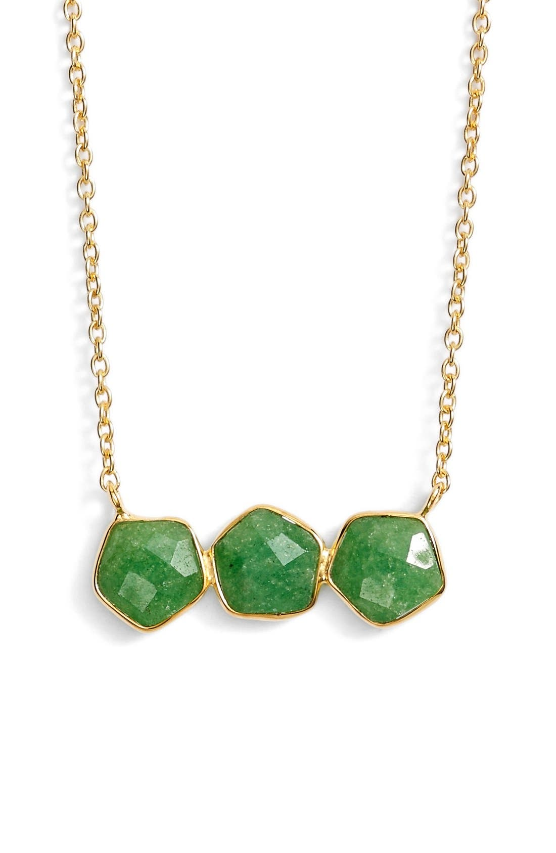 Main Image - ArgentoVivoThree Stone Frontal Necklace