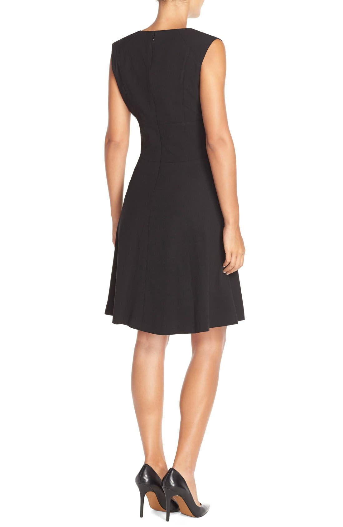 Alternate Image 2  - Marc New York 'Lux' Stretch Fit & Flare Dress