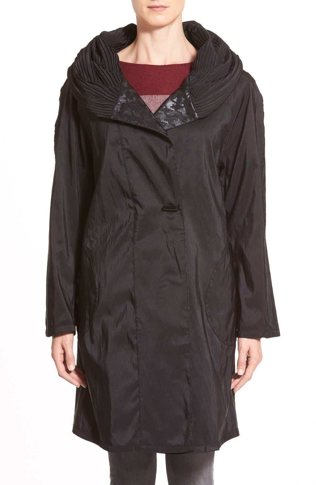 Alternate Image 3  - MycraPac DesignerWear 'ShortDonatella' Reversible Pleat Hood PackableTravel Coat