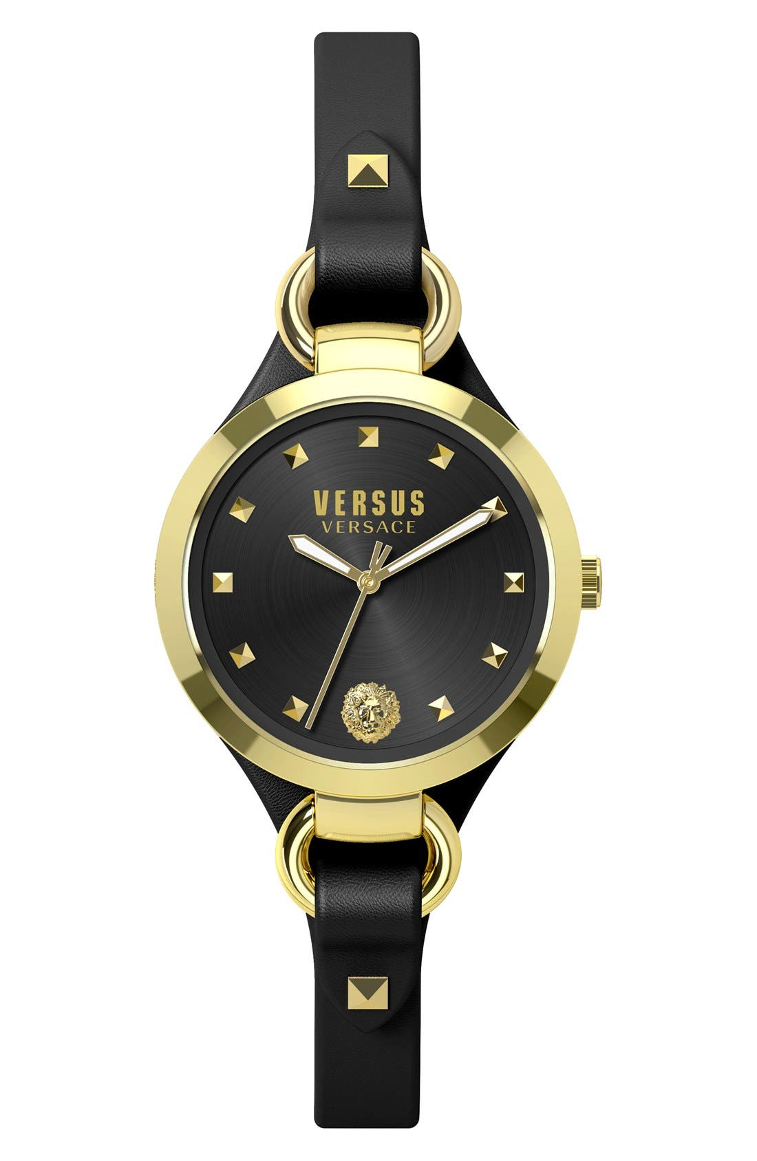 Alternate Image 1 Selected - VERSUS by Versace'Roslyn' Leather Strap Watch, 34mm