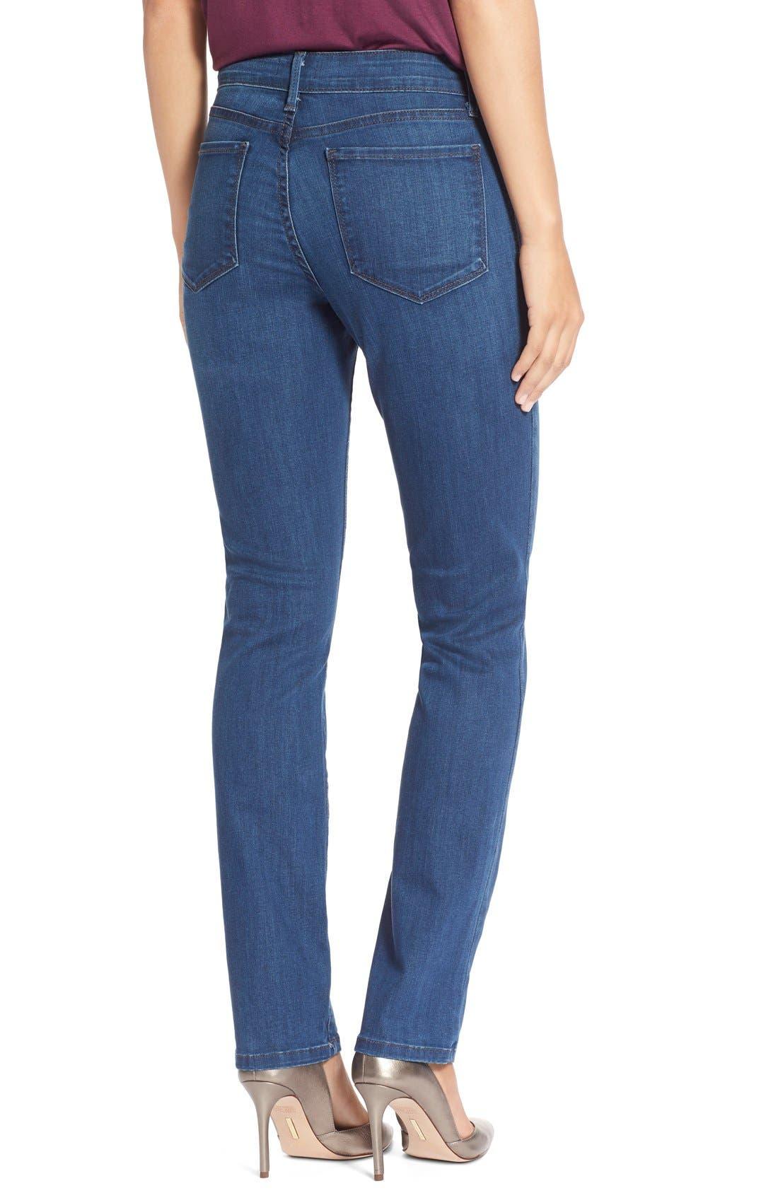 Alternate Image 2  - NYDJ'Sheri' Stretch Skinny Jeans (Valencia)(Petite)