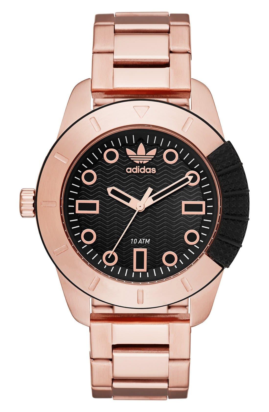 Alternate Image 1 Selected - adidasOriginals 'ADH-1969' Bracelet Watch, 42mm case