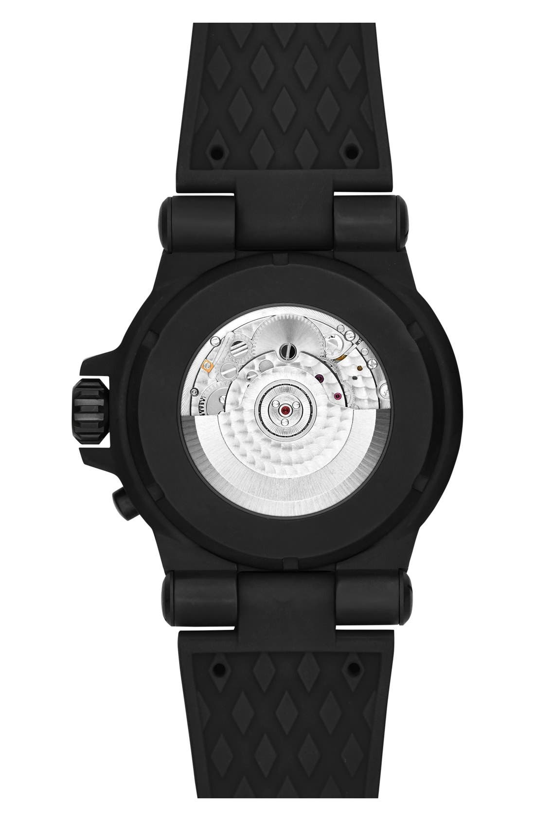Alternate Image 2  - Michael Kors 'Dylan' Chronograph Silicone Strap Watch, 48mm