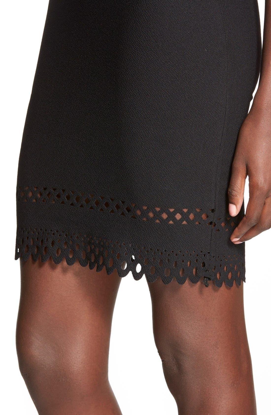 Alternate Image 4  - MissguidedLaser Cut Hem Body-Con Dress