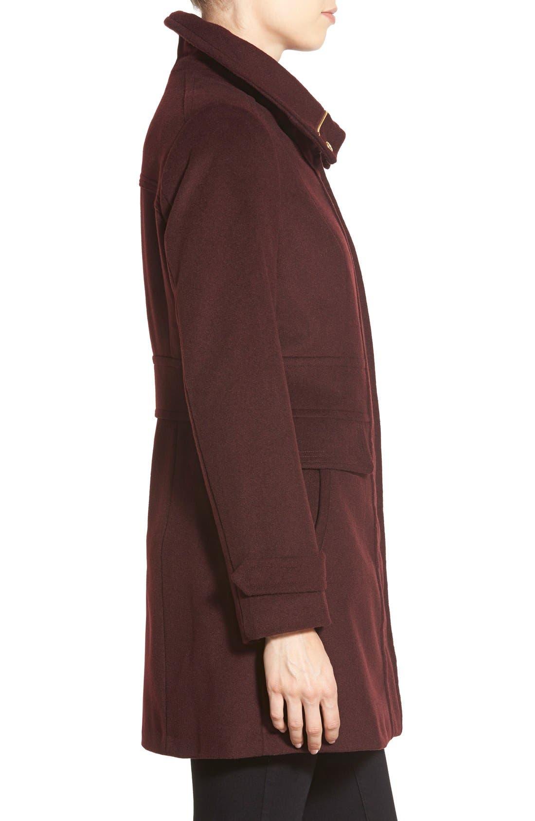 Alternate Image 3  - Cole HaanSignature Stand Collar Wool Blend Coat