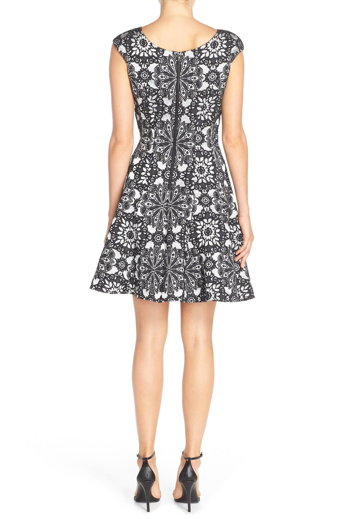 Alternate Image 2  - Betsey Johnson Floral Fit & Flare Dress