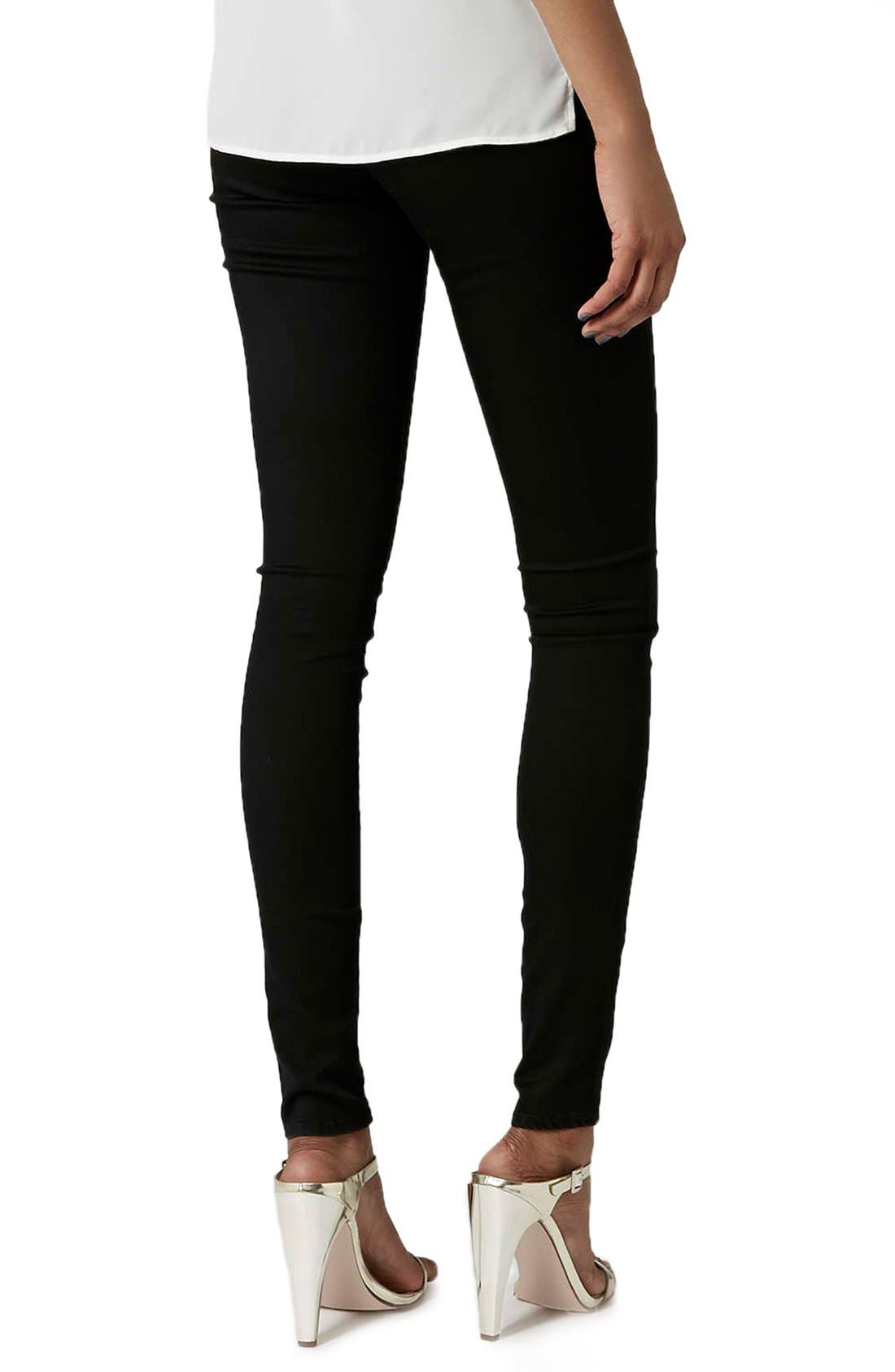 Alternate Image 3  - Topshop 'Leigh' High Rise Skinny Jeans (Tall)