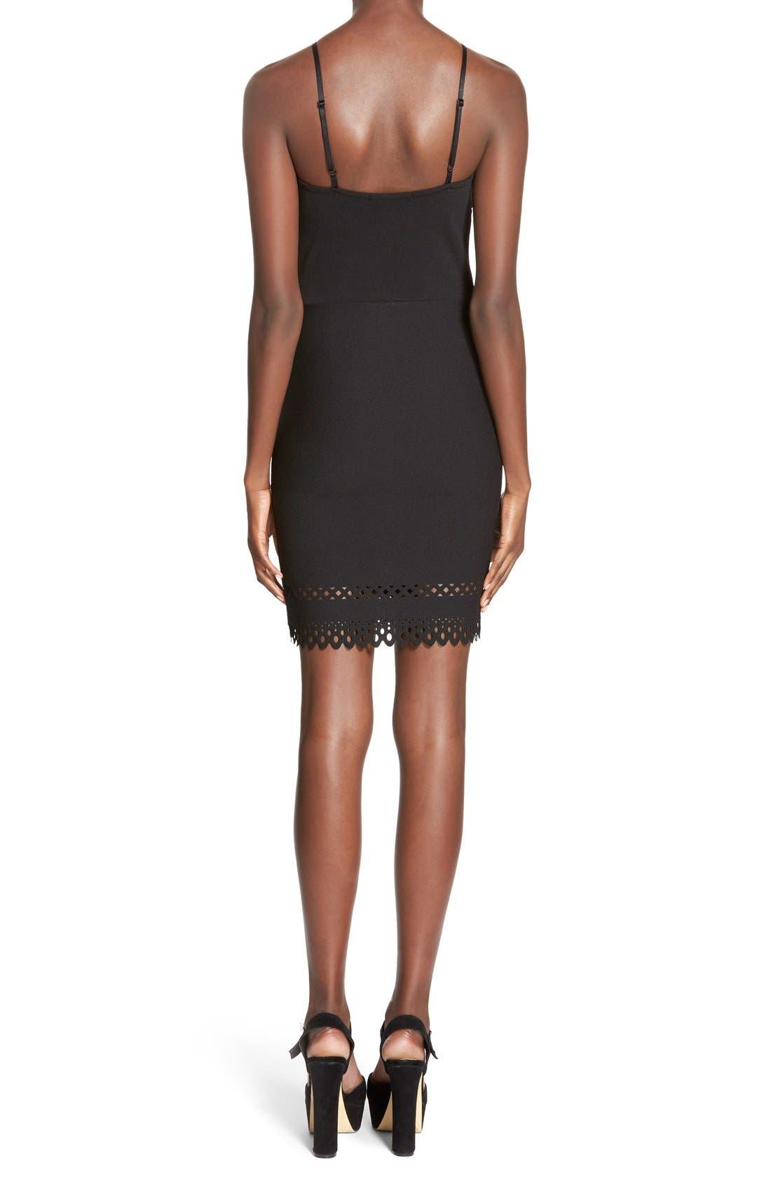 Alternate Image 2  - MissguidedLaser Cut Hem Body-Con Dress