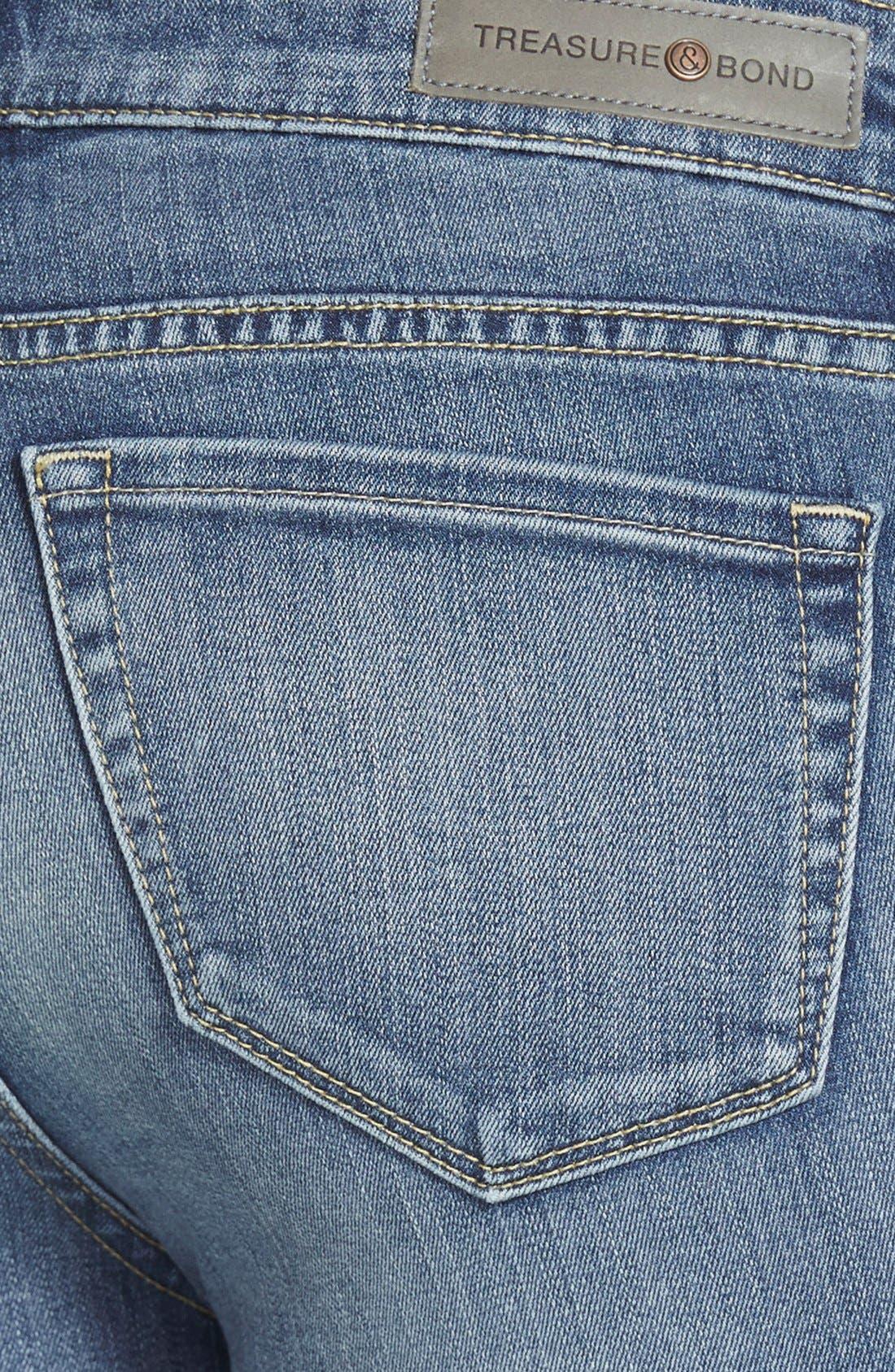 Alternate Image 3  - Treasure&Bond Skinny Flare Jeans (Mode Medium Vintage)