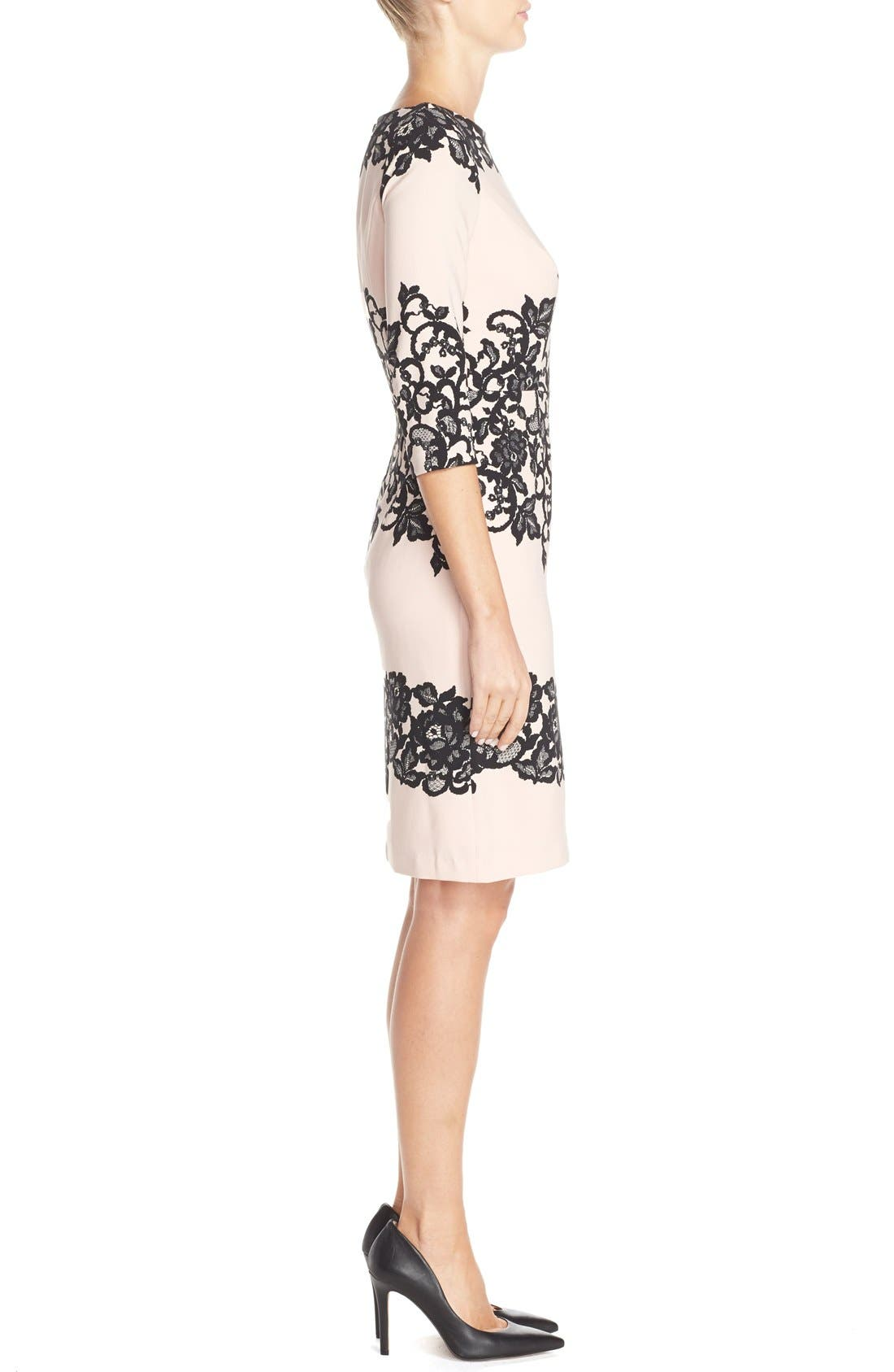 Alternate Image 3  - Adrianna Papell Placed Print Sheath Dress