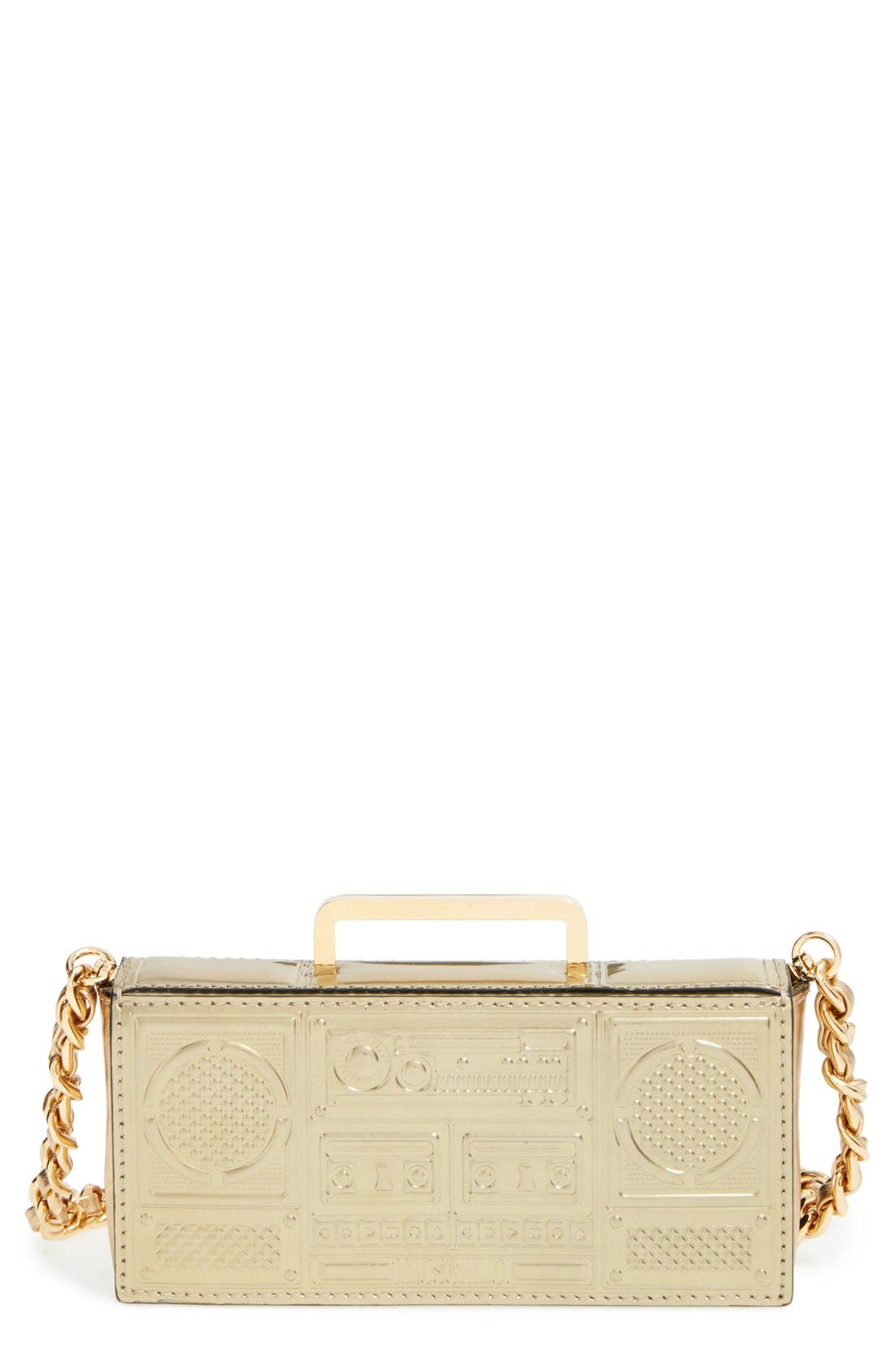 Alternate Image 1 Selected - Moschino 'Mini Boom Box' Crossbody Bag
