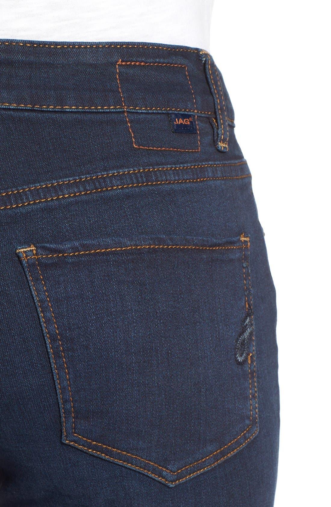 Alternate Image 4  - Jag Jeans'Westlake' StretchSkinnyJeans (Indigo Steel)