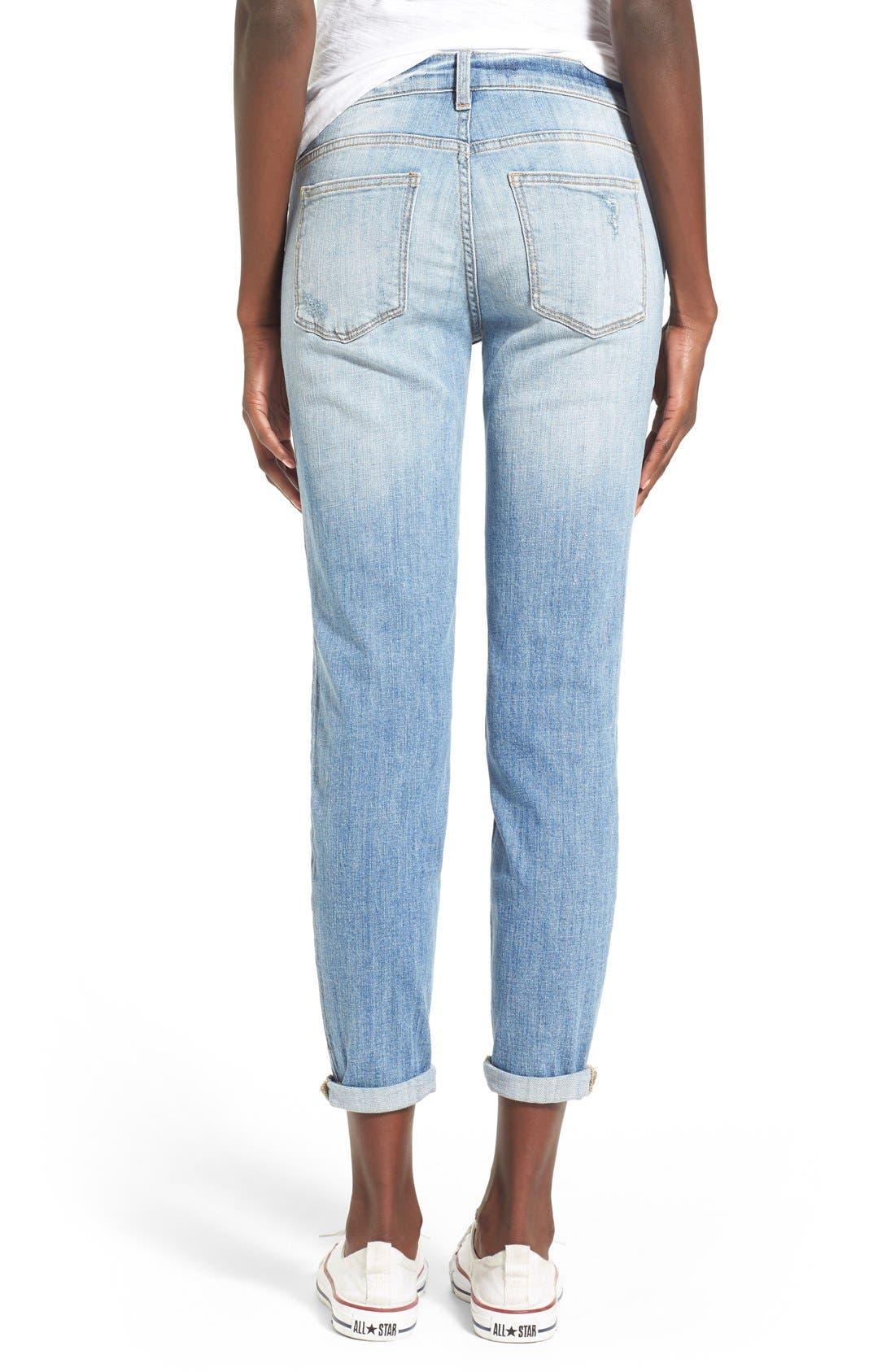Alternate Image 2  - SPBlackDestroyed BoyfriendJeans(LTWash)
