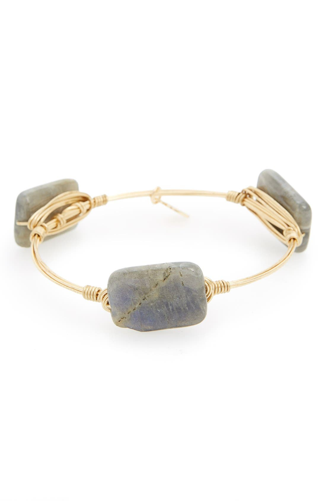 Alternate Image 1 Selected - Bourbon and Boweties Small Stone Bracelet