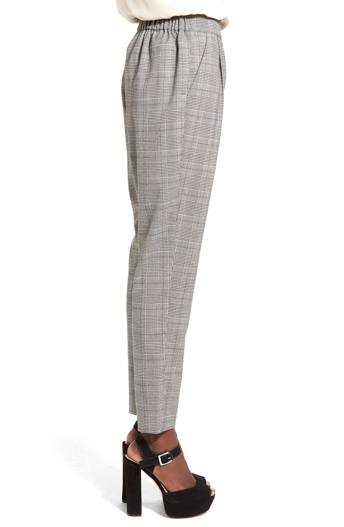 Alternate Image 3  - Leith Pleat Front Glen Plaid Pants