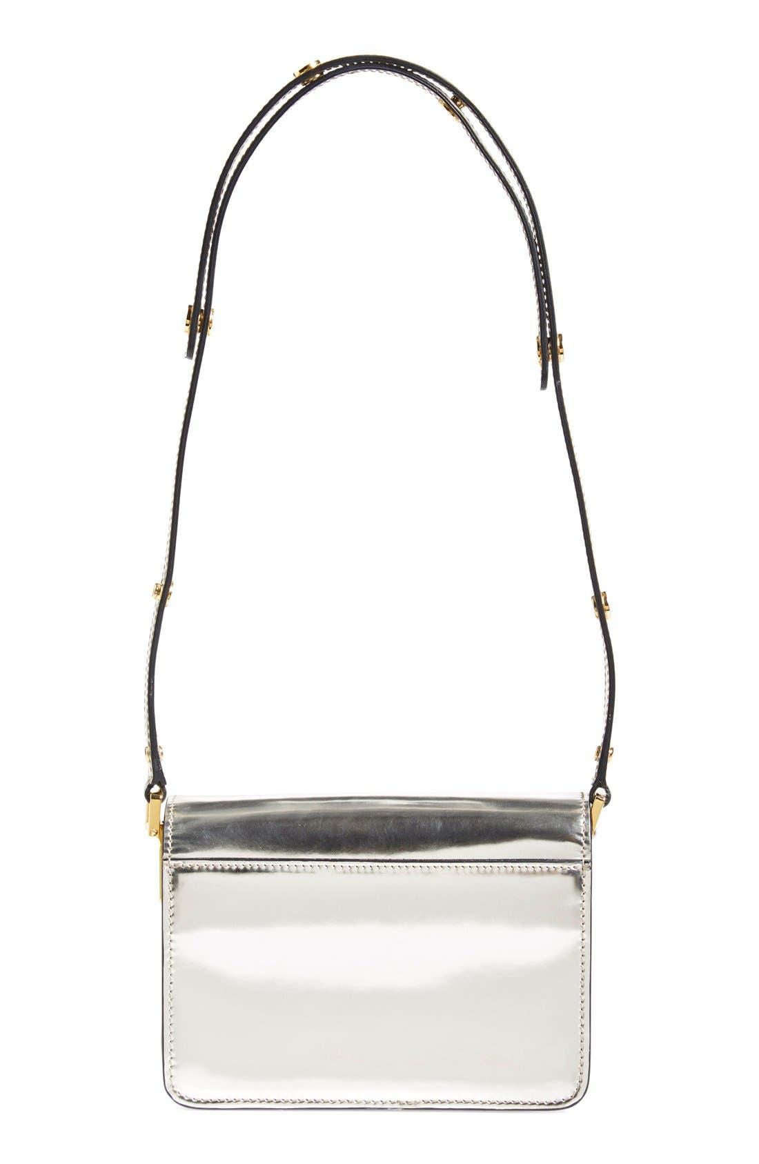Alternate Image 3  - Marni'Mini Trunk' Metallic LeatherShoulder Bag