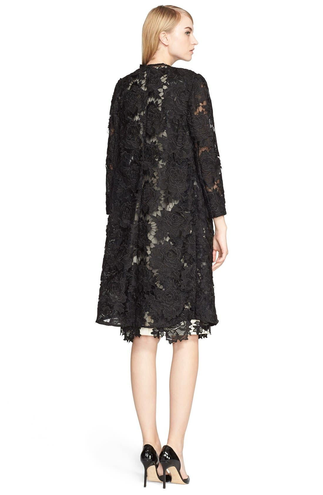 Alternate Image 4  - Lela Rose Guipure Lace Appliqué Sheath Dress
