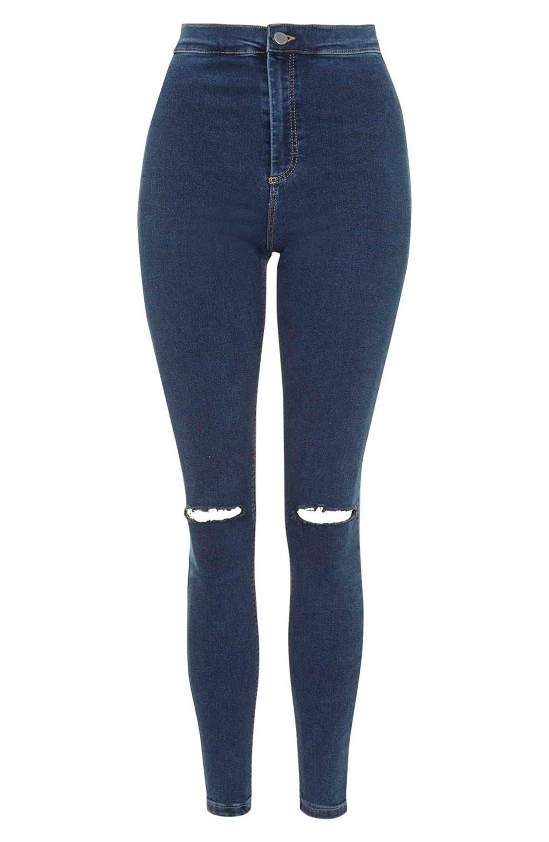 Alternate Image 4  - Topshop Moto'Joni' Ripped High Rise Skinny Jeans (Regular & Short)