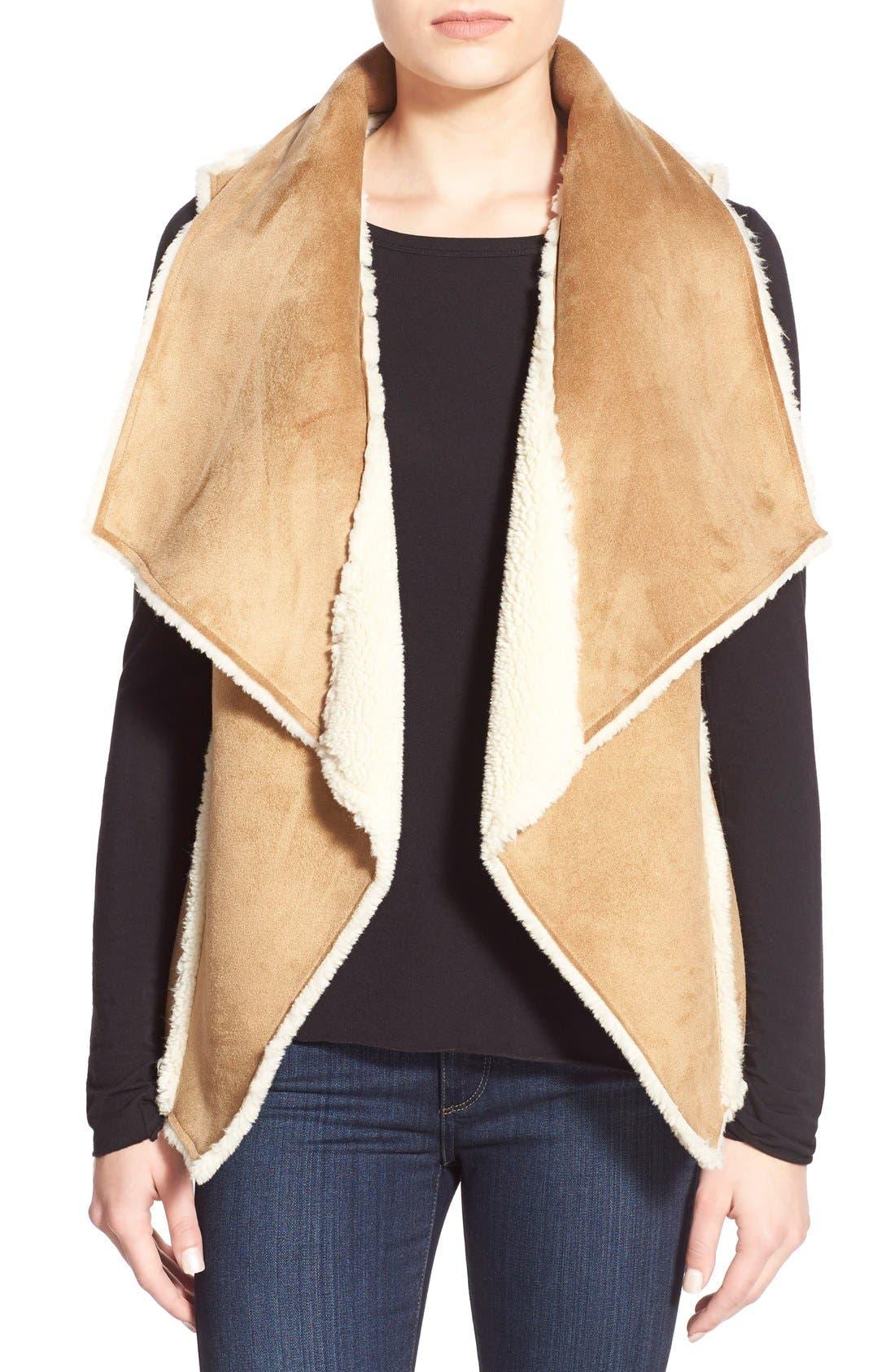 Alternate Image 4  - Velvet by Graham & Spencer Reversible Faux Shearling Vest