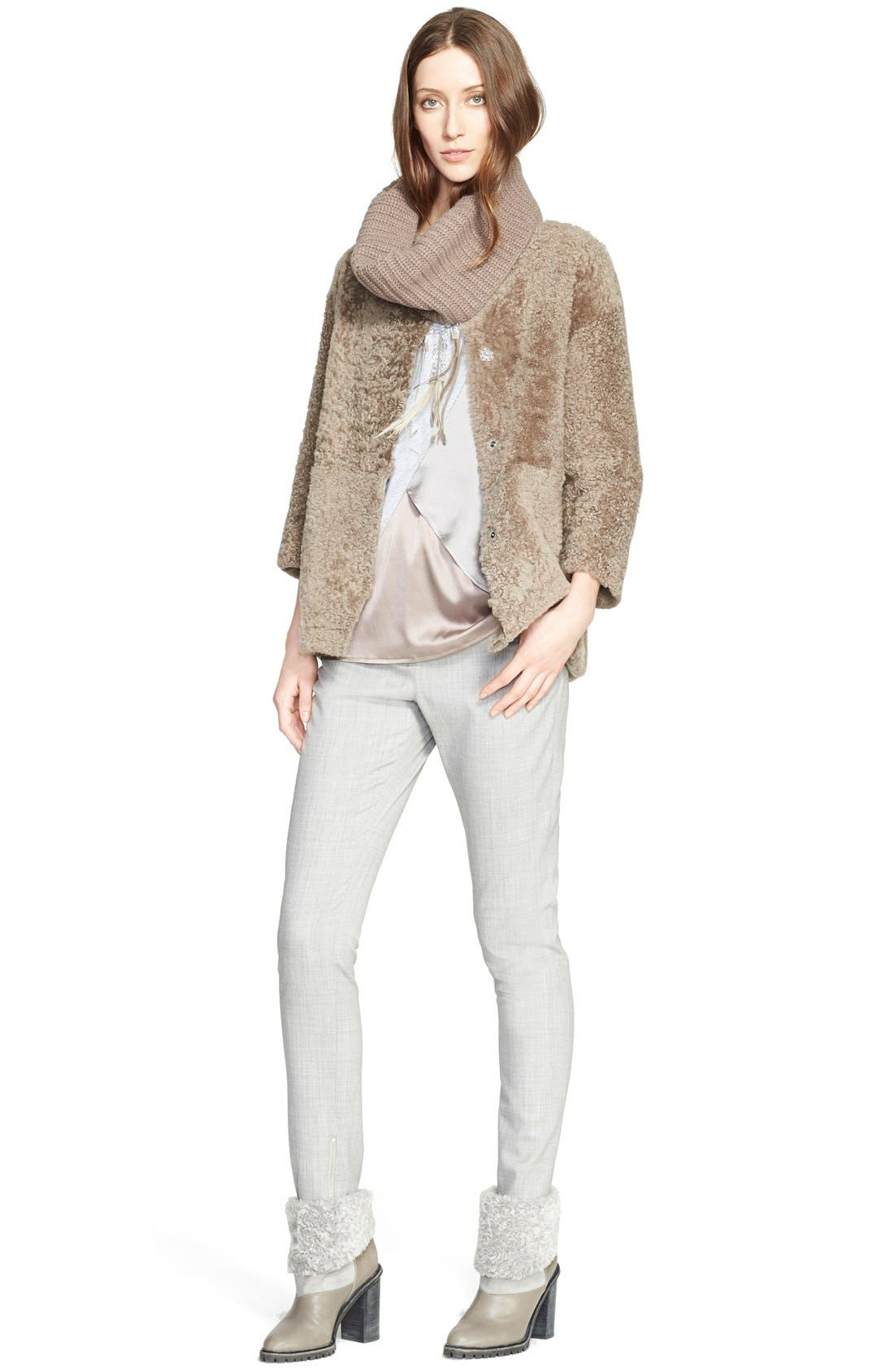 Alternate Image 4  - Fabiana Filippi Slim Lightweight Wool Pants