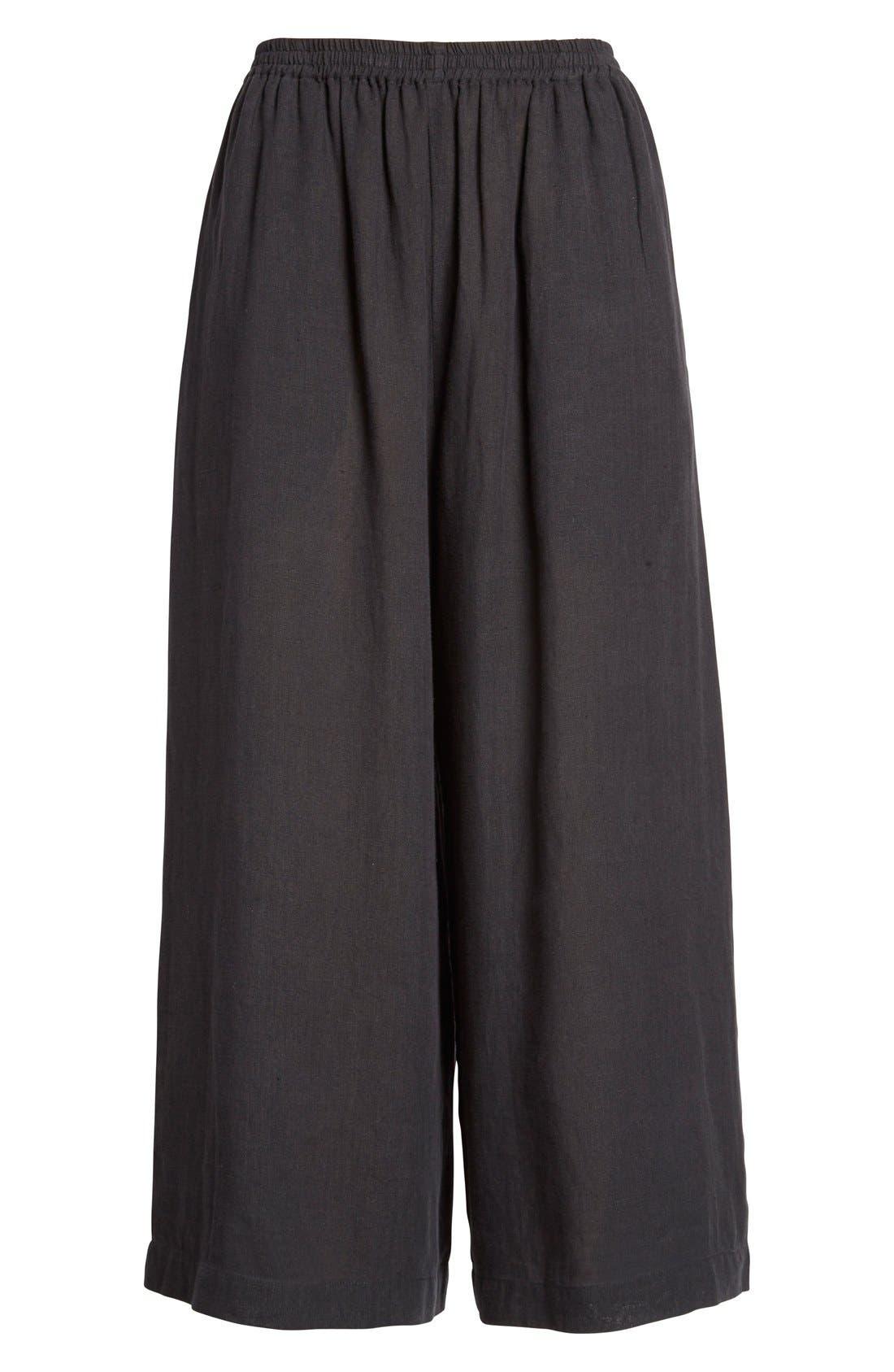 Alternate Image 4  - eskandarHandkerchief Linen Flare Crop Pants