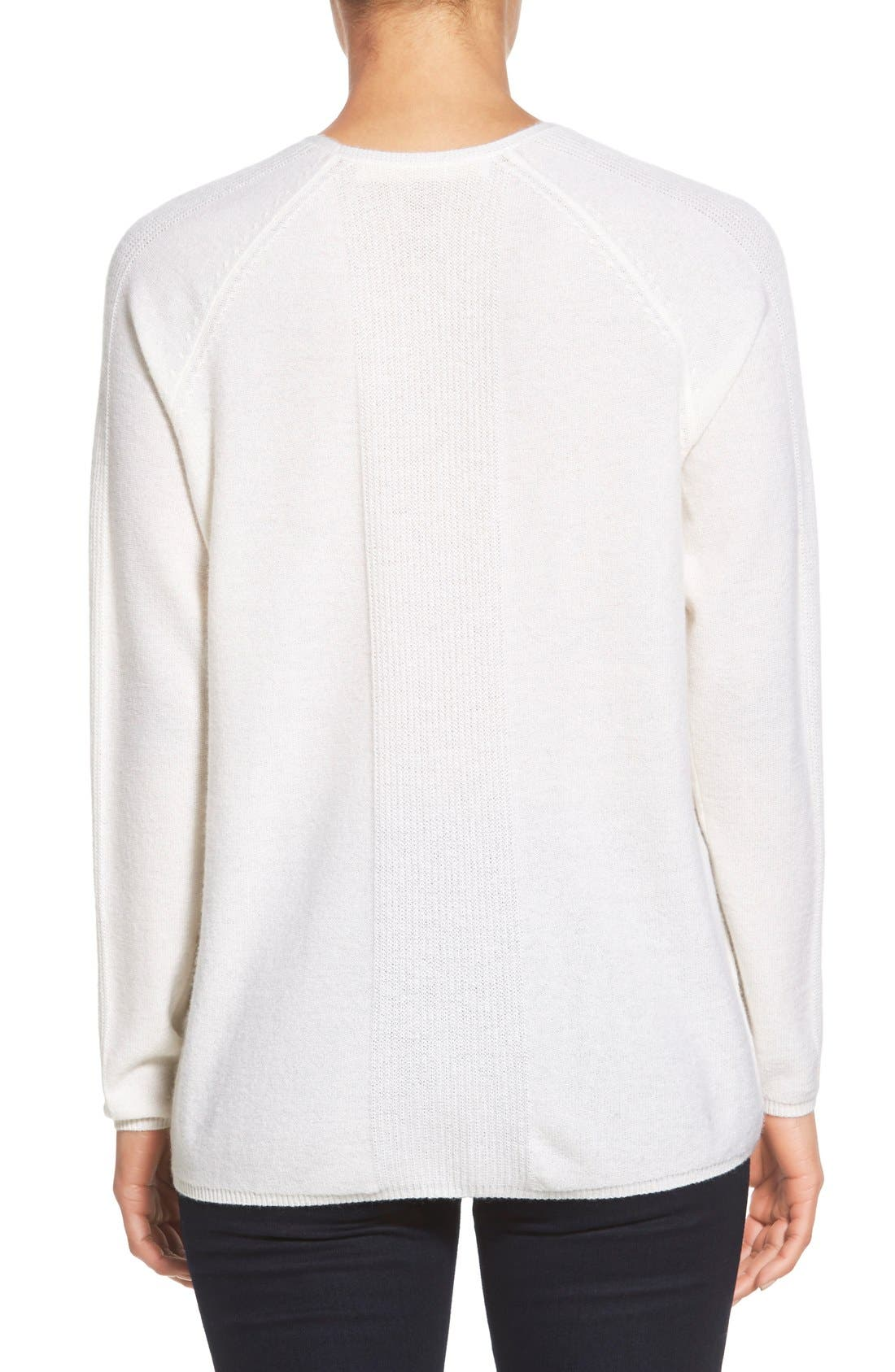 Alternate Image 2  - Nordstrom Collection V-Neck Cashmere Sweater