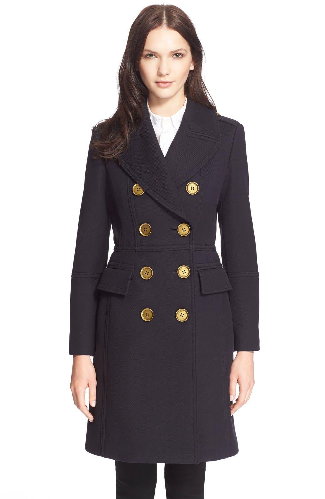 Alternate Image 1 Selected - BurberryLondon 'Whittingstall' Wool Military Coat