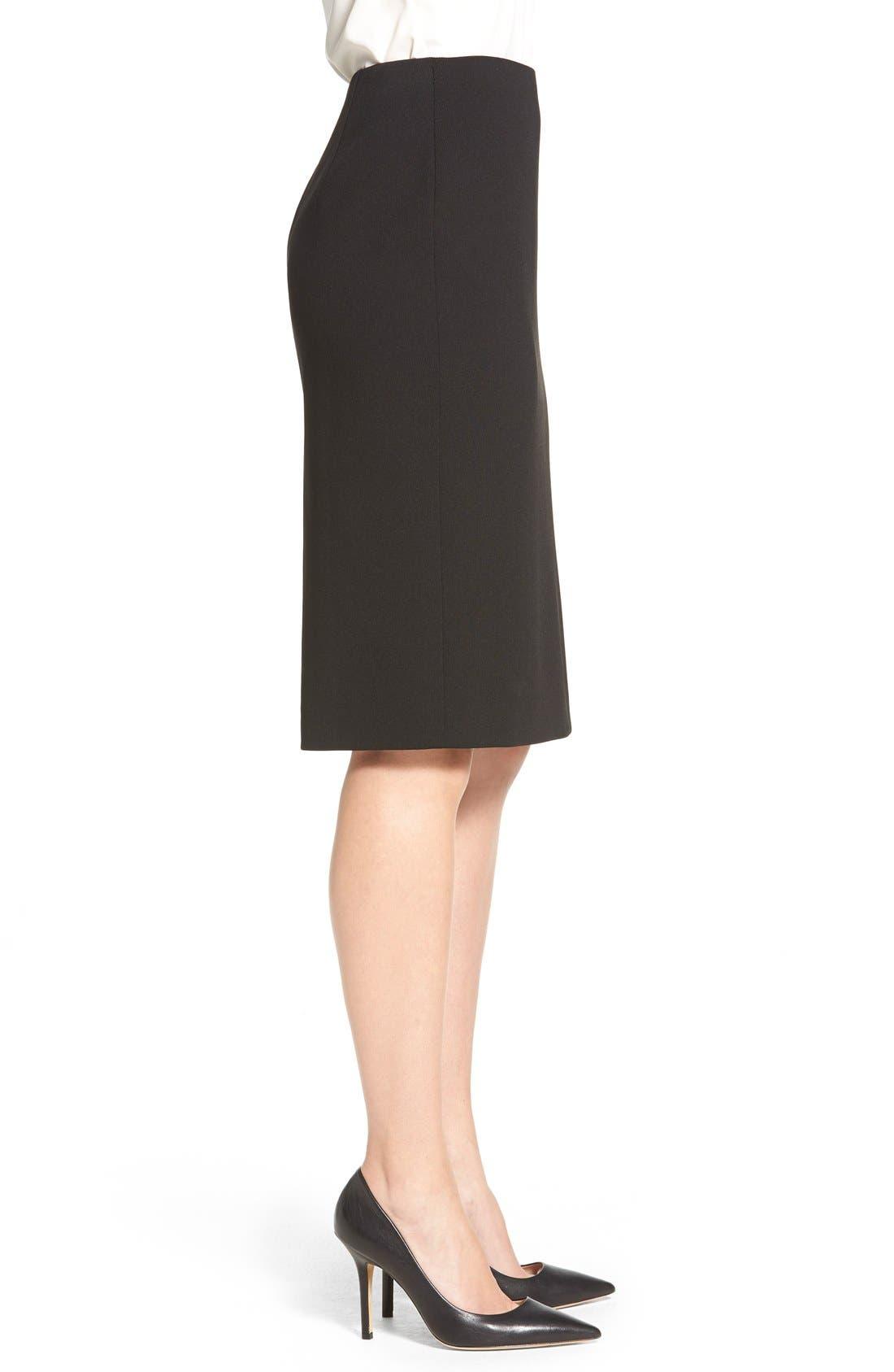 Alternate Image 3  - Classiques Entier® Zip Back Ponte Pencil Skirt