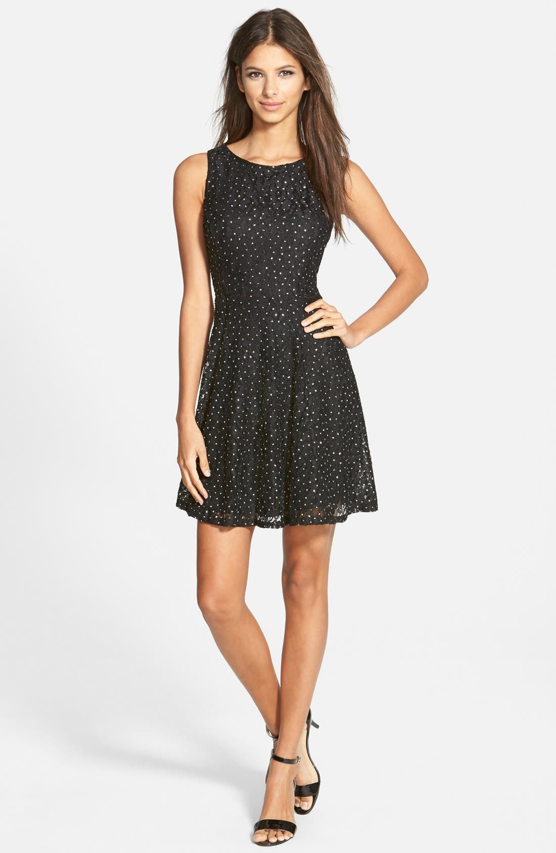 Alternate Image 1 Selected - Speechless Embellished Skater Dress