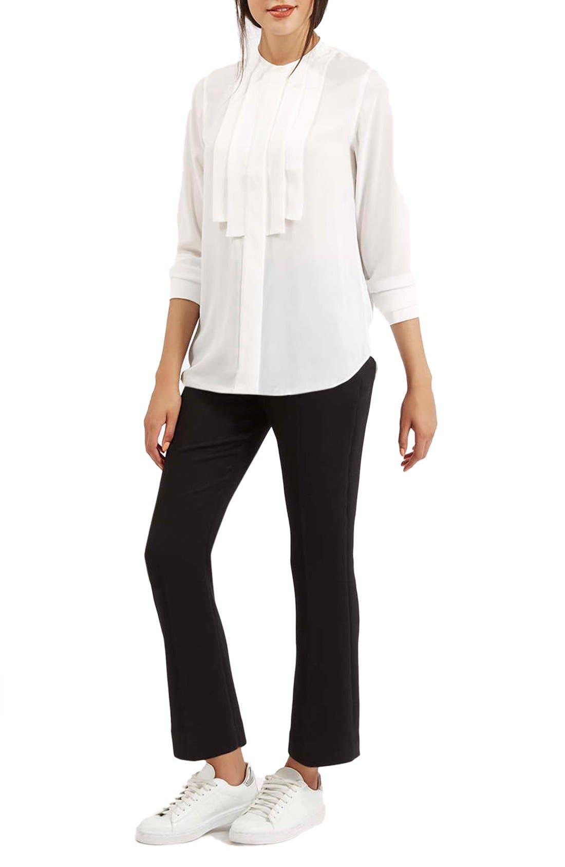 Alternate Image 5  - Topshop Pleated Bib Button Front Shirt
