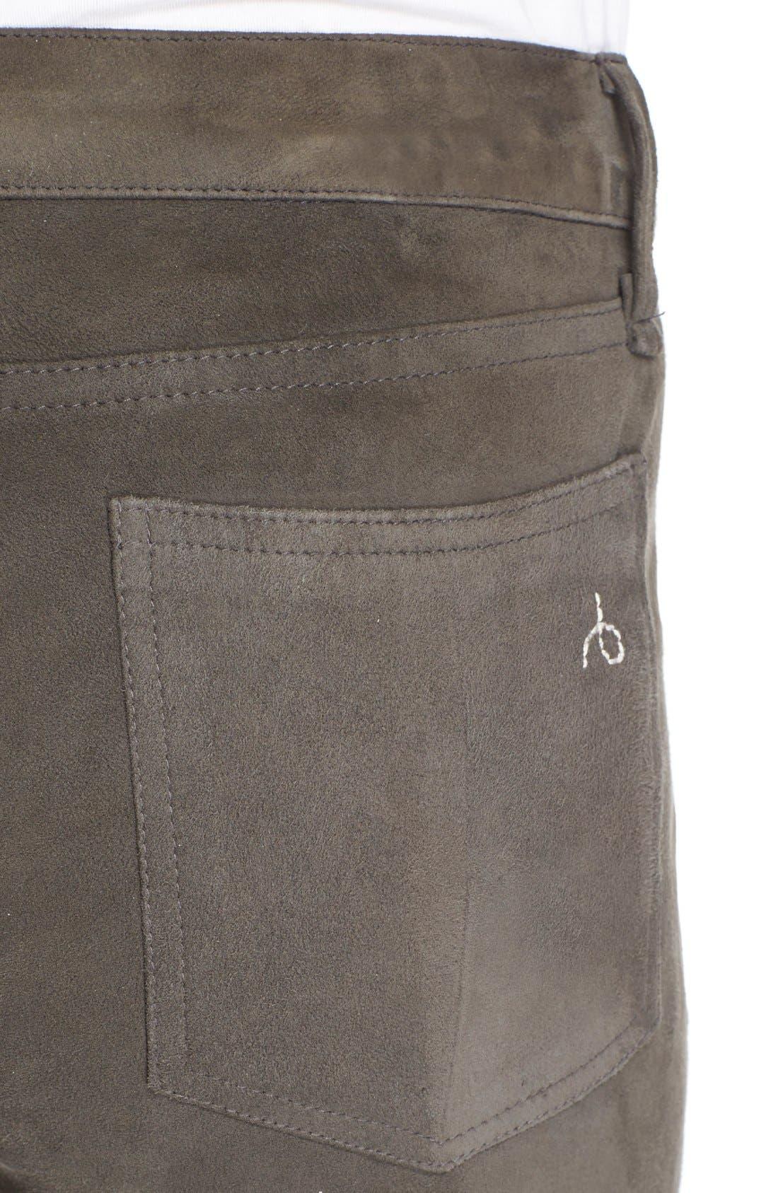 Alternate Image 4  - rag & bone/JEAN 'RBW23' Suede Skinny Pants