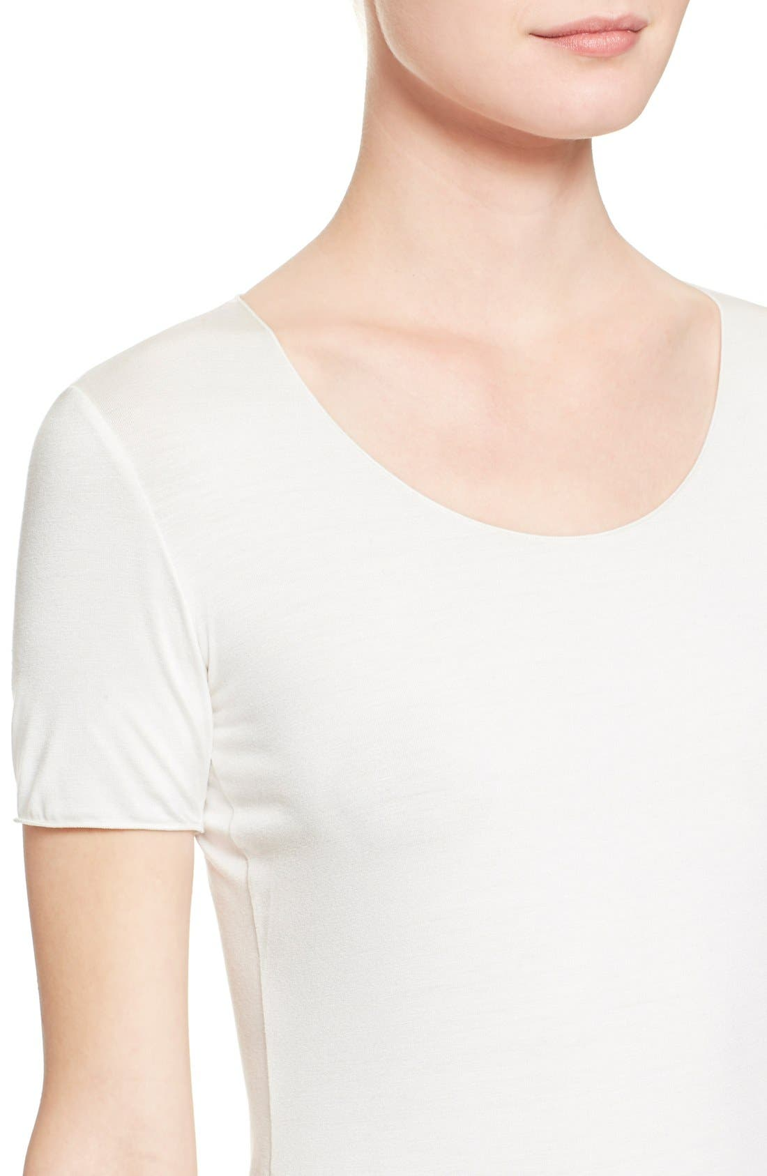 Alternate Image 6  - Armani Collezioni Short Sleeve Jersey Tee