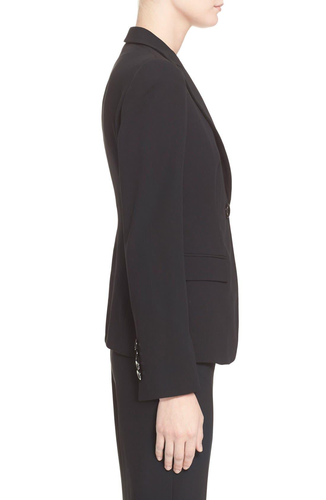 Alternate Image 8  - Armani Collezioni Single Button Wool Jacket
