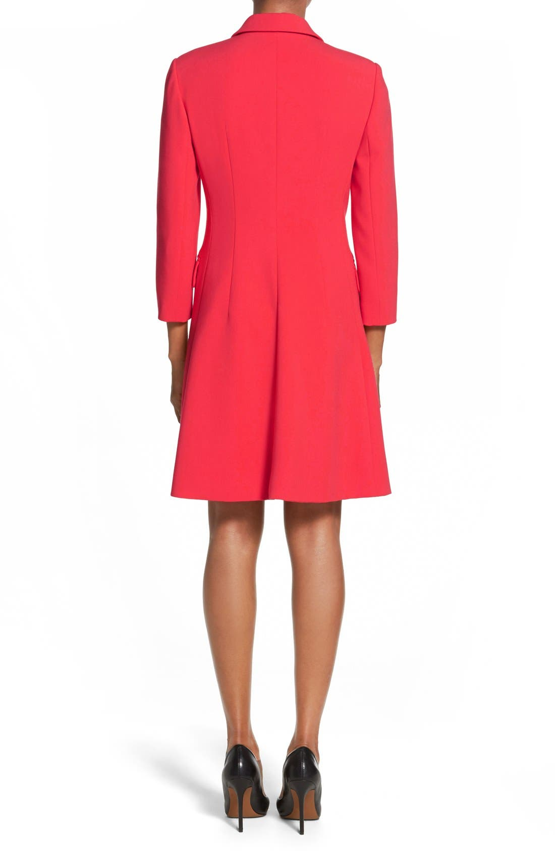 Alternate Image 2  - Ellen Tracy Double Weave Coatdress (Regular & Petite)