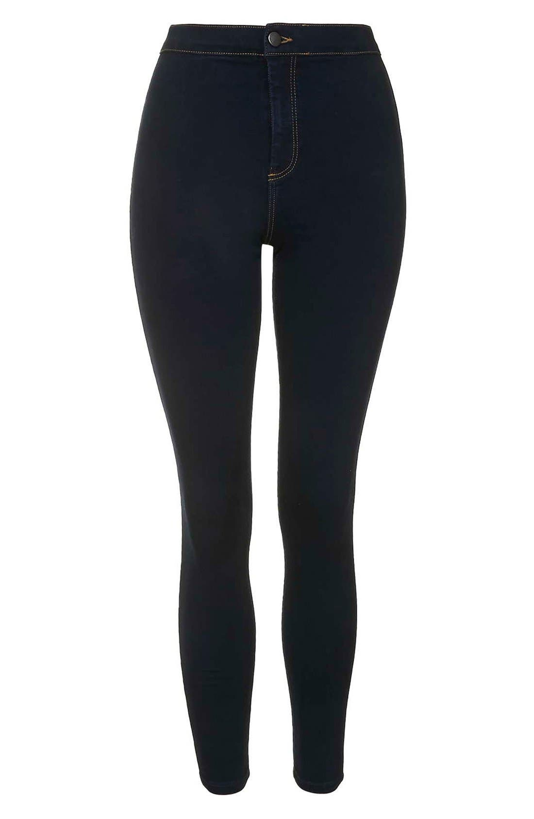 Alternate Image 4  - Topshop Moto 'Joni' Super Skinny Jeans (Mid Denim) (Tall)