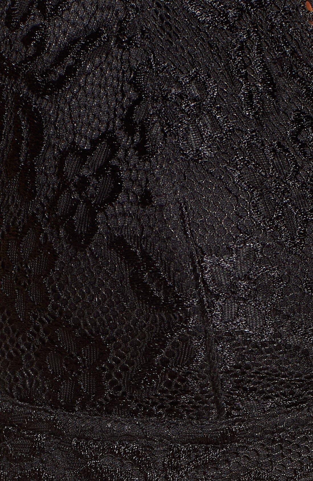 Alternate Image 5  - Always Indigo Lace Halter Bralette