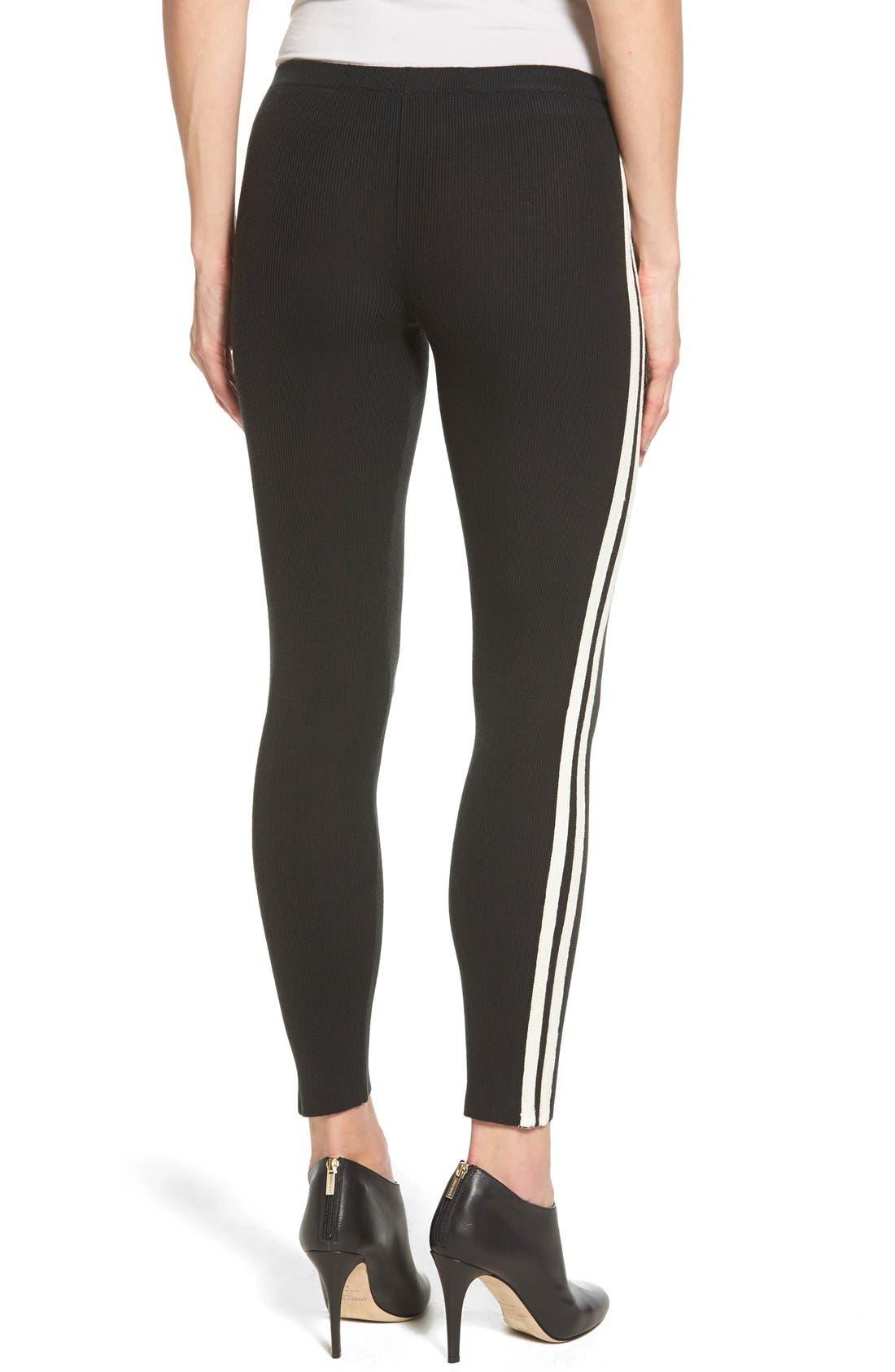 Alternate Image 2  - Hue Racer Stripe Sweater Leggings