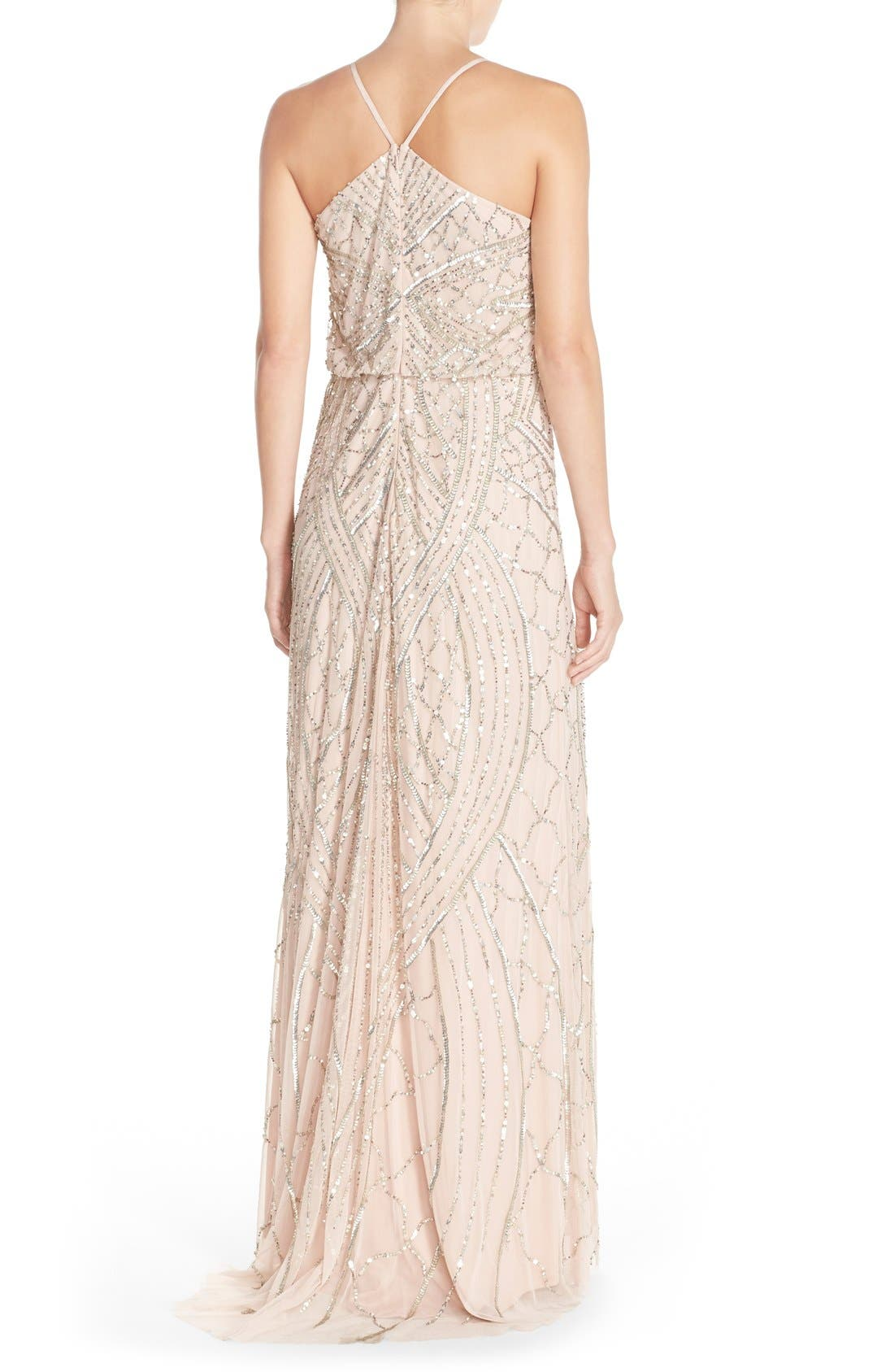 Alternate Image 2  - Adrianna Papell Sequin Chiffon Blouson Gown