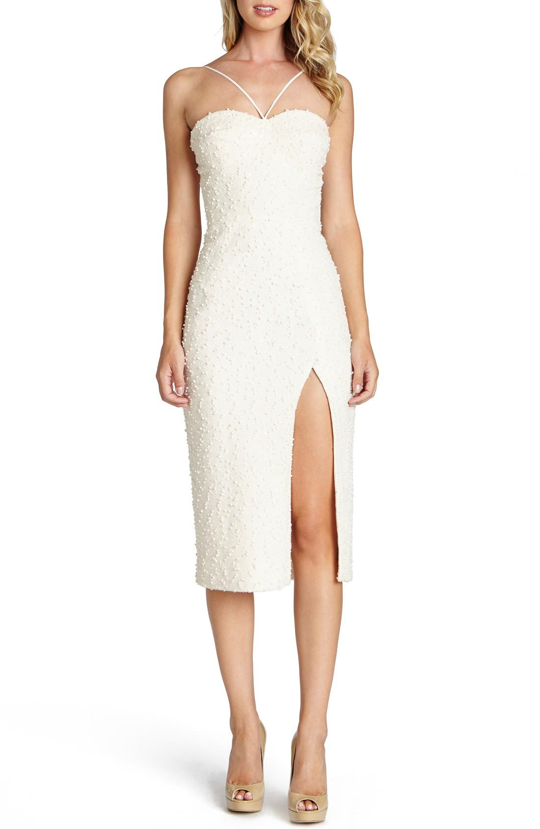 Main Image - Dress the Population 'Luciana' Textured Knit Sheath Dress