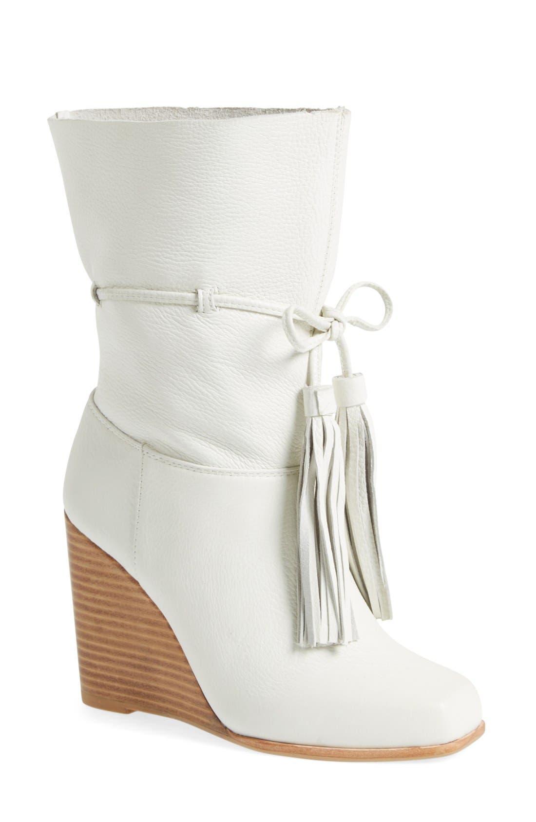 Alternate Image 1 Selected - Jeffrey Campbell 'Larusso' Wedge Tassel Boot (Women)