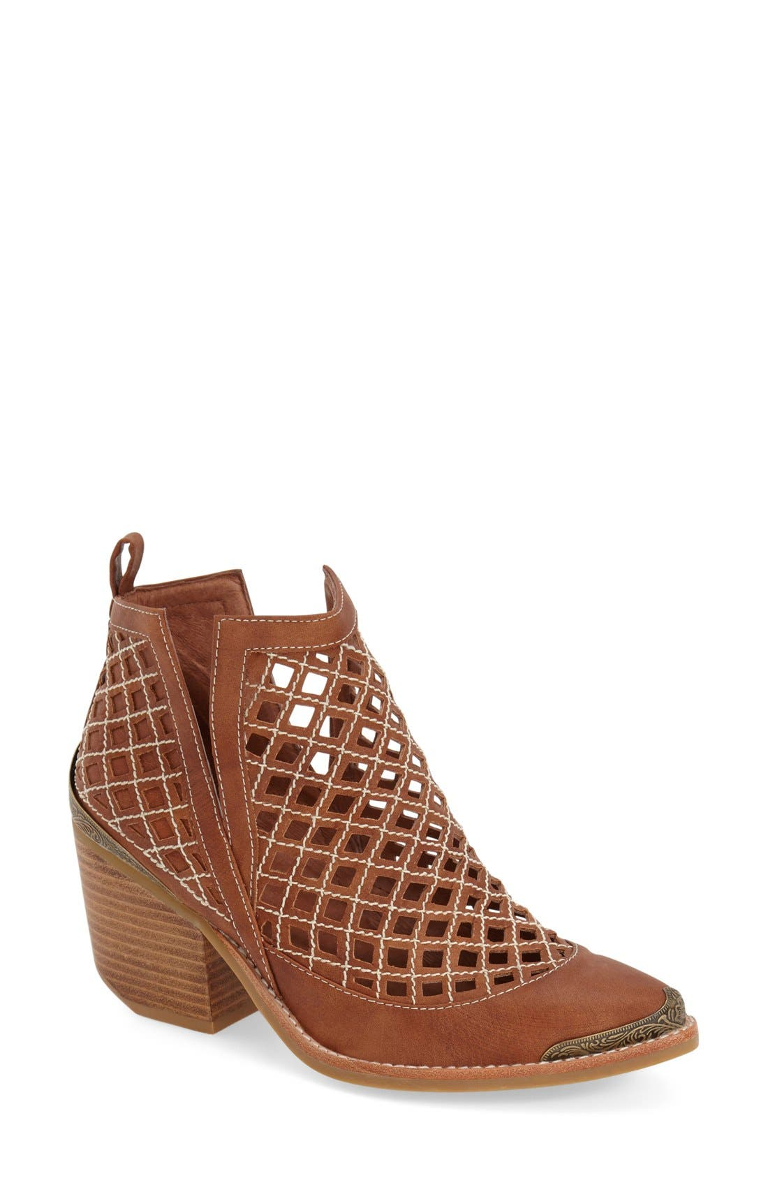 Alternate Image 1 Selected - Jeffrey Campbell 'Cromwell' Cutout Ankle Bootie (Women)