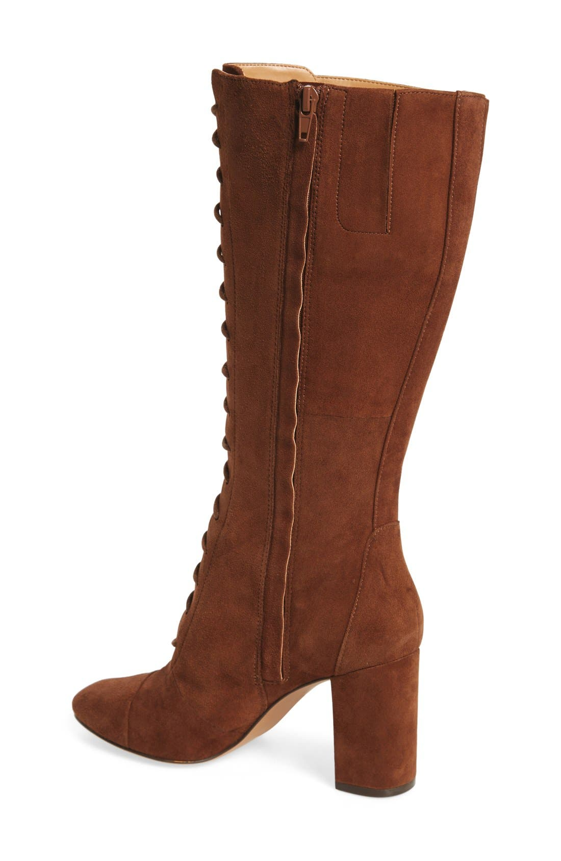 Alternate Image 4  - Nine West 'Waterfall' Lace-Up Knee High Boot (Women)