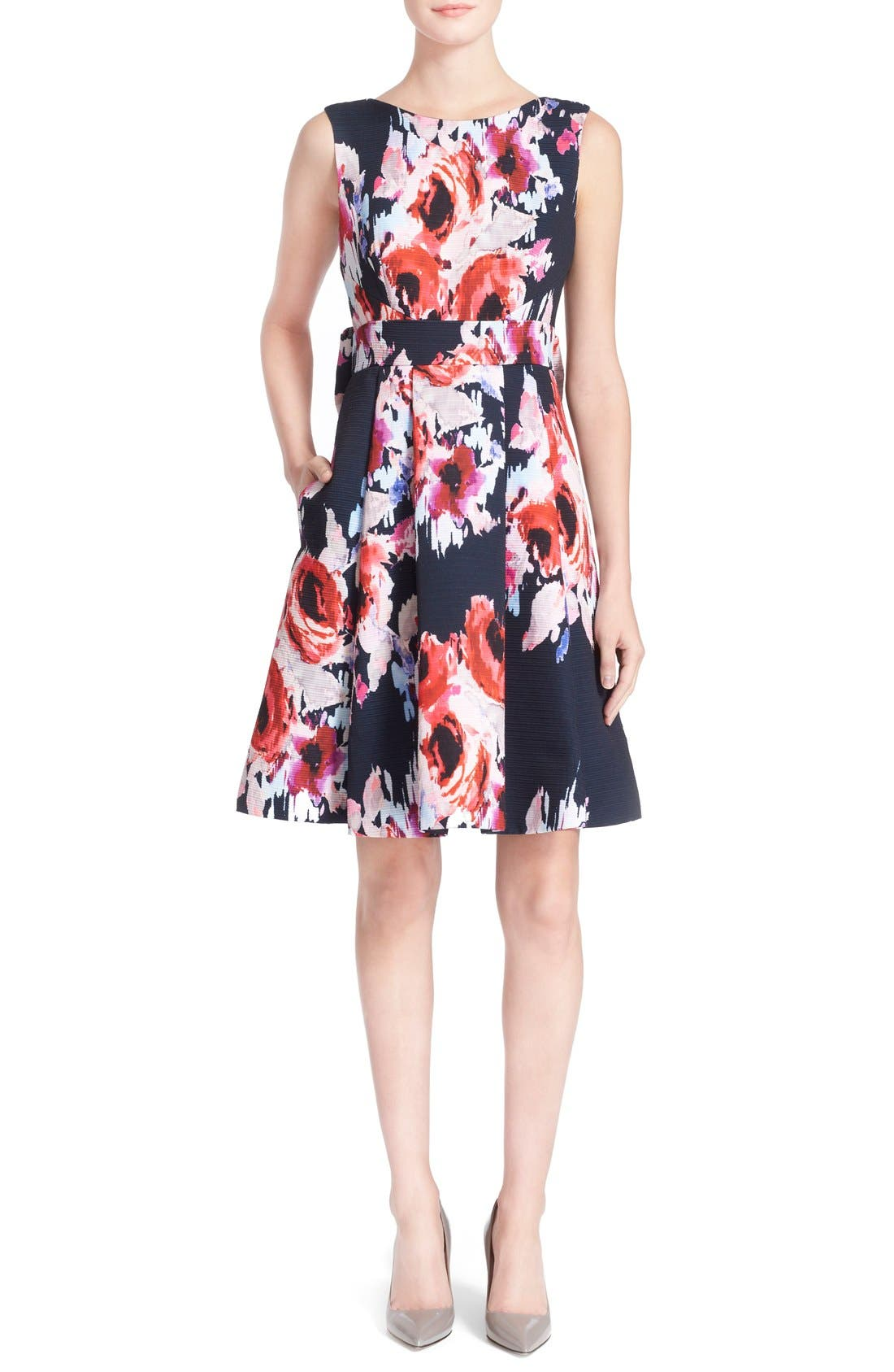 Alternate Image 1 Selected - kate spade new york floral print fit & flare dress