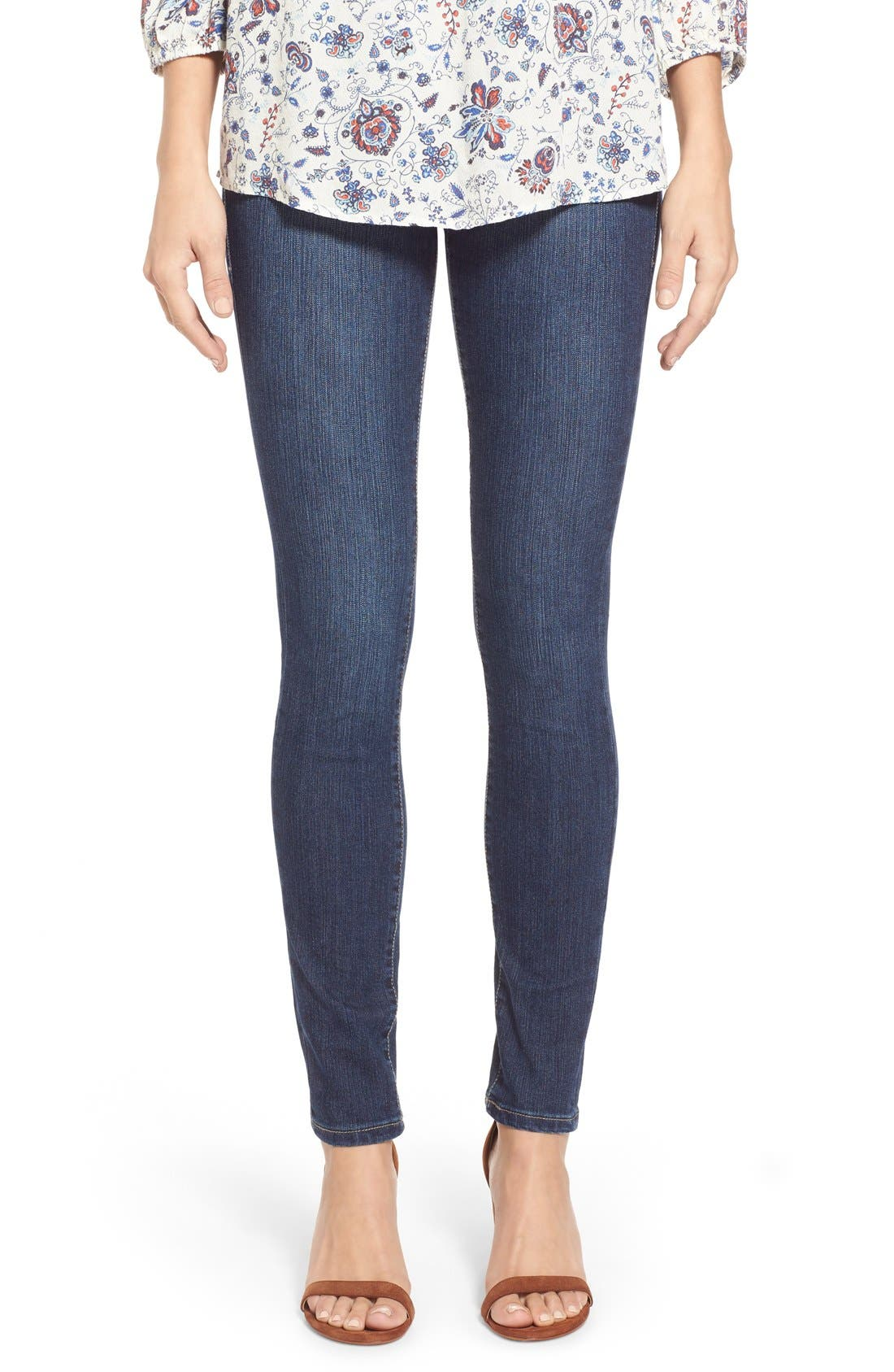 Alternate Image 1 Selected - Jag Jeans 'Nora' Pull-On Stretch Skinny Jeans (Anchor Blue) (Regular & Petite)