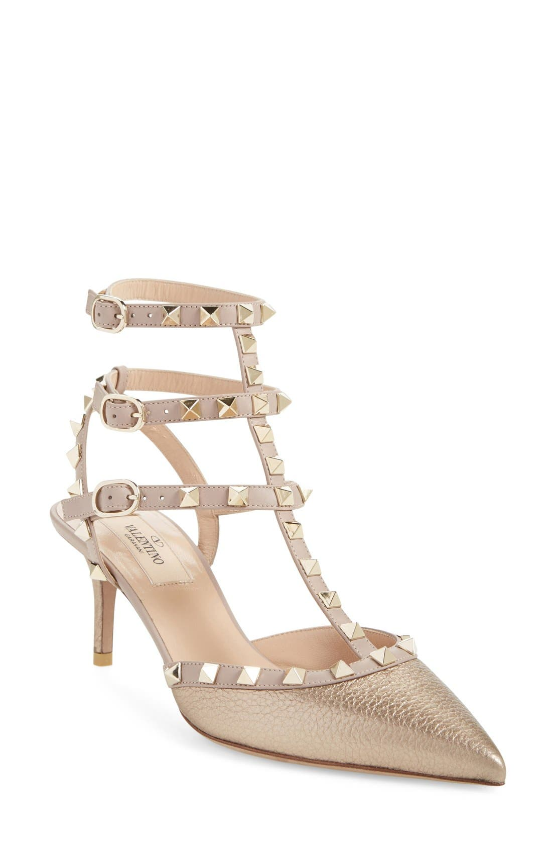 Alternate Image 1 Selected - Valentino 'Rockstud' T-Strap Pump (Women)